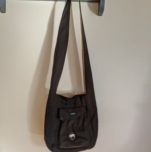 Kavu Black Canvas Crossbody Bag